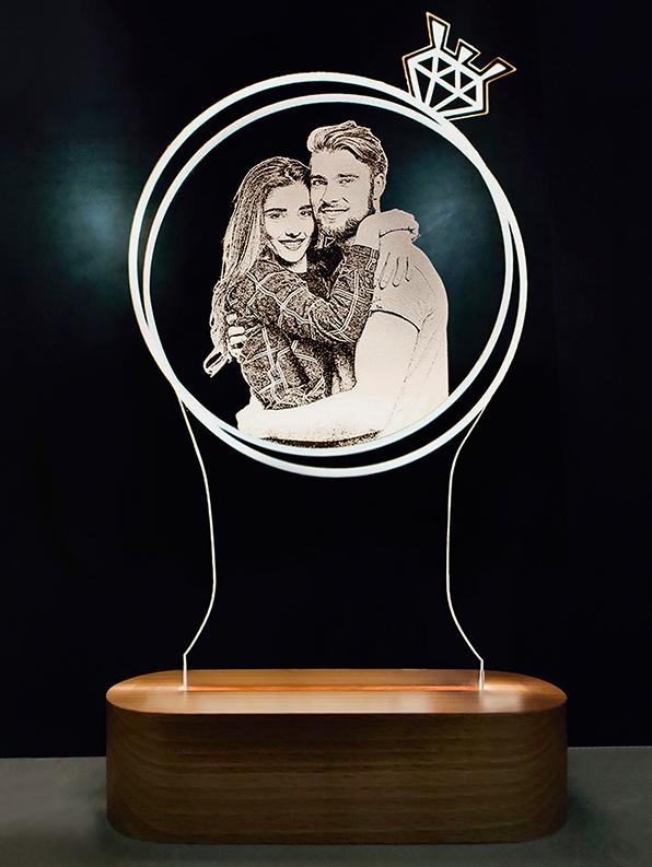 Personalized 3D lamp : Gift for boyfriend