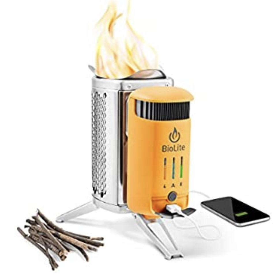 Portable Camp Grill And Charger : Gift for boyfriend
