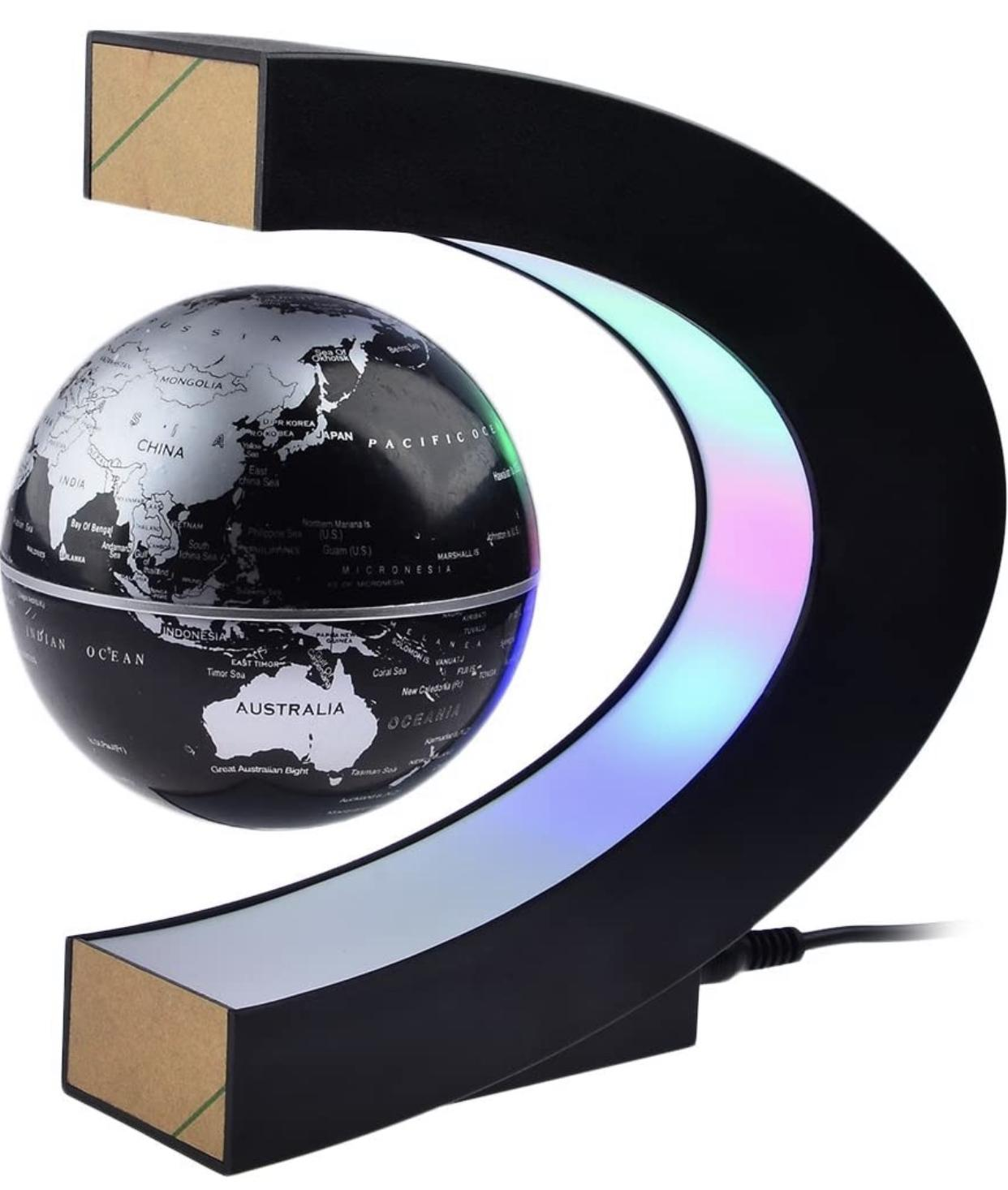 Magnetic Levitation Globe with LED Lights : Gift for boyfriend