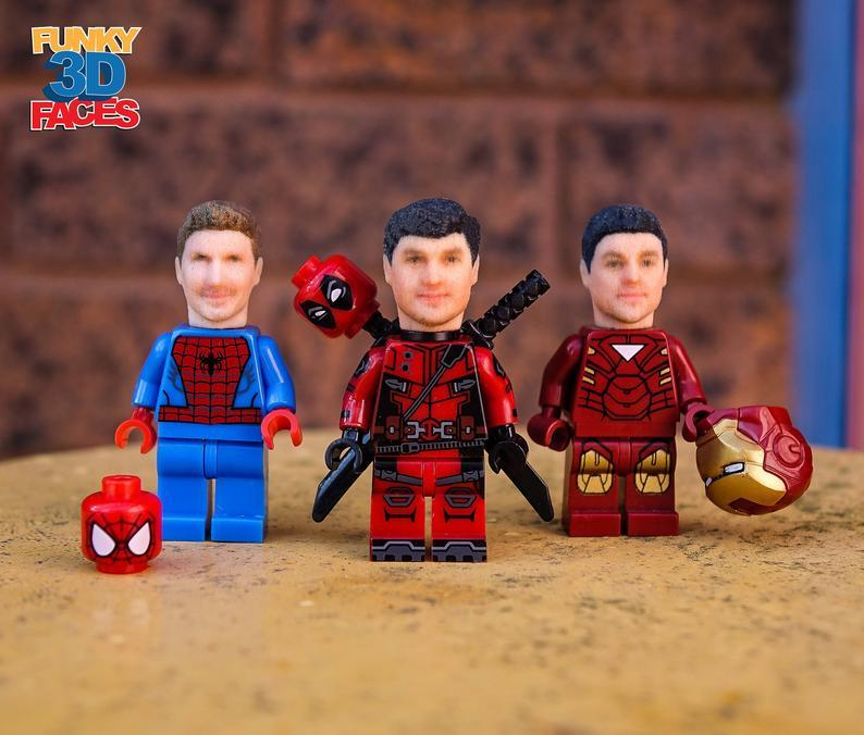 LEGO Minifigure Custom Heads : Gift for boyfriend
