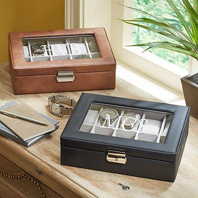 Leather Watch box : Gift for boyfriend